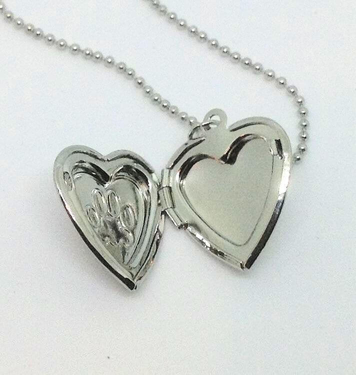 pp prints lockets sterling necklace personalised heart can print silver personalisedengraved locket photo paw be