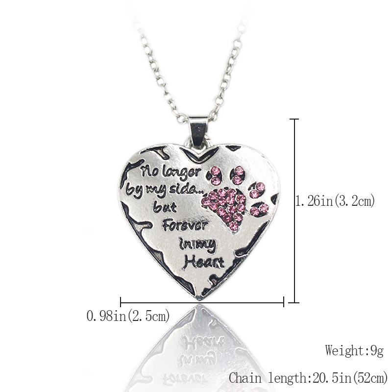 No longer by my side but forever in my heart pendant paws a while forever in my heart pendant aloadofball Gallery