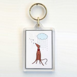 Rooing in the rain - Keyring or Bag Tag