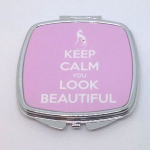Compact Mirror - Keep Calm You Look Beautiful