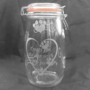 Dog Treat Jar - For The One With The Paw - Image 1