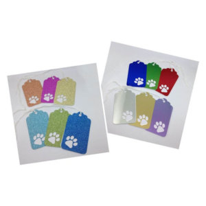 Gift Tags - Multi Coloured - Paw Print - Selection