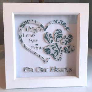Shabby Chic Picture - Dogs Leave Paw Prints On Our Hearts