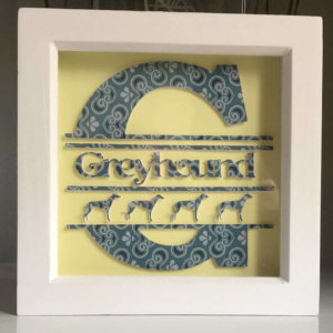 Shabby Chic Picture - G Is For Greyhound